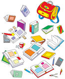 De voorwerpen van de school Stock Foto