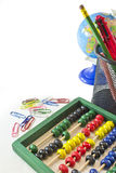 De voorwerpen van de school Stock Afbeeldingen