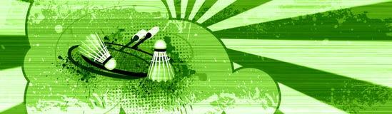 De voorwerpen van het badminton Stock Afbeeldingen