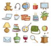 De voorwerpen van het huishouden Royalty-vrije Stock Afbeeldingen