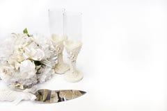 De voorwerpen van het huwelijk Stock Foto's