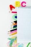 De voorwerpen van het onderwijs Stock Afbeelding