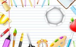 De Voorwerpen van het onderwijs royalty-vrije illustratie