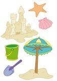De voorwerpen van het strand Stock Fotografie