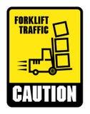 De voorzichtigheid kijkt uit voor Forklifts royalty-vrije illustratie
