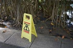 De voorzichtigheidsteken van Kewtuinen Royalty-vrije Stock Foto's