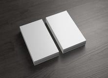 De voorzijde en behandelt 2 stapel verticale adreskaartjes Royalty-vrije Stock Afbeelding