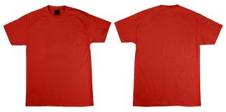 De voorzijde en de rug van de t-shirt royalty-vrije stock foto's