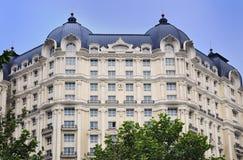 De Voorzijde en het Dak van het hotel Stock Afbeelding