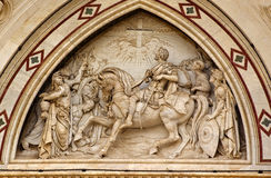 De Voorzijde Florence van Croce van de Kerstman van de basiliek royalty-vrije stock fotografie