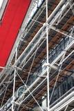 De voorzijde van centrum Pompidou in Parijs, Frankrijk royalty-vrije stock afbeelding
