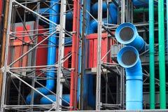De voorzijde van centrum Pompidou in Parijs, Frankrijk royalty-vrije stock foto's