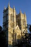 De voorzijde van de Abdij van Westminster Stock Foto
