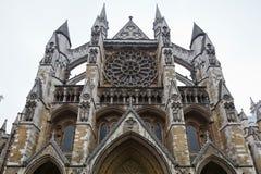 De voorzijde van de Abdij van Westminster Stock Fotografie