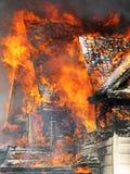 De Voorzijde van de brand Stock Afbeelding