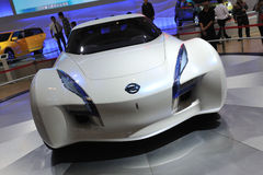 De voorzijde van de het conceptenauto van Nissan esflow Royalty-vrije Stock Foto's