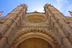 De Voorzijde van de Kathedraal van Mallorca Royalty-vrije Stock Afbeeldingen