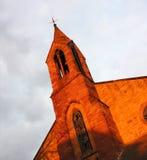 De Voorzijde van de kerk Stock Foto's