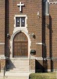 De Voorzijde van de kerk stock foto