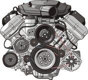 De voorzijde van de motor stock illustratie