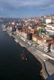 De Voorzijde van de Rivier van Porto op Portugal Stock Afbeeldingen