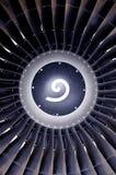 De voorzijde van de straalmotor Stock Afbeeldingen