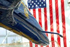 De voorzijde van een straal van de Engelen van de Horzel F/A-18 Blauwe Stock Afbeelding