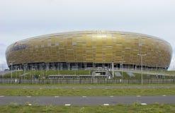 De Voorzijde van Gdansk van de Arena PGE Stock Foto's
