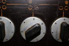 De voorzijde van het fornuis met een potentiometer royalty-vrije stock foto's