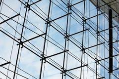 De voorzijde van het glas - architecturaal detail Stock Afbeelding