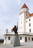 De voorzijde van het Kasteel van Bratislava Stock Afbeeldingen