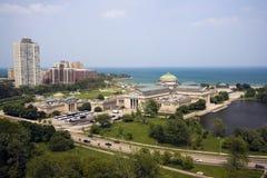 De voorzijde van het meer in Chicago Stock Afbeeldingen