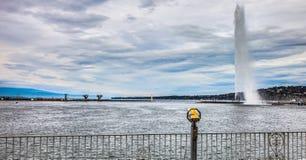 De Voorzijde van het Meer van Genève - Jeat d'Eau III Royalty-vrije Stock Afbeeldingen