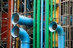 De voorzijde van het museum Pompidou Stock Foto's