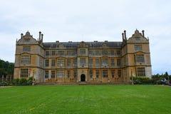 De Voorzijde van het oosten, Montacute-Huis, Somerset, Engeland Stock Foto's