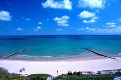 De voorzijde van het strand Stock Foto's