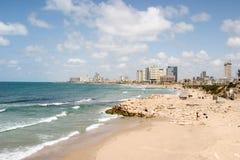 De Voorzijde van het Strand van Tel Aviv Stock Foto's