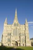 De Voorzijde van het westen, de Kathedraal van Salisbury Stock Foto's