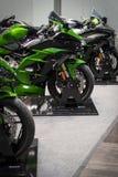 De voorzijde van Motorfiets op vertoning royalty-vrije stock foto