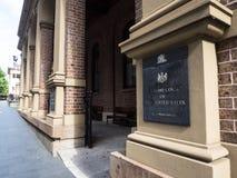 De voorzijde van opperst hof van Nieuw Zuid-Wales heeft toeziende jurisdictie over andere die hoven en rechtbanken van NSW, op Ko royalty-vrije stock afbeeldingen