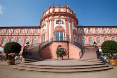 De Voorzijde van Schlossbiebrich Stock Foto