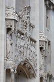 De voorzijdedetail van Middlesex Guildhall Stock Foto's