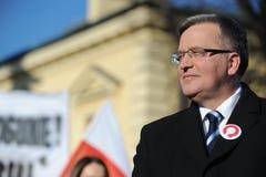 De Voorzitter van Bronislawkomorowski van Polnad Stock Afbeeldingen