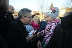 De Voorzitter van Bronislawkomorowski van Polnad Royalty-vrije Stock Foto