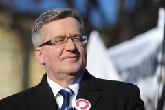 De Voorzitter van Bronislawkomorowski van Polnad Royalty-vrije Stock Afbeeldingen