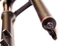 De vork van de de fietsopschorting van de berg stock fotografie
