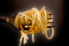 De vork van de spaghetti Royalty-vrije Stock Foto's