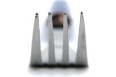 De vork van het metaal Stock Fotografie