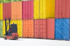De vorkheftoestel van de container Stock Foto