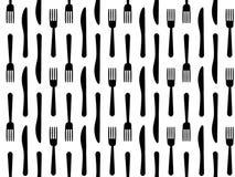De vorkmes van het bestek naadloos patroon Stock Foto's